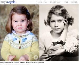 【英王室】シャーロット王女はエリザベス女王にそっくり!