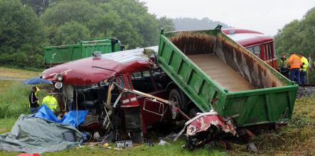 【EU発!Breaking News】列車とトラックが衝突・脱線。25人以上負傷(ドイツ)