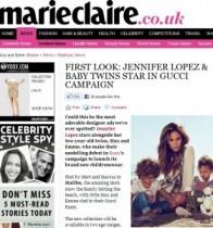 """【イタすぎるセレブ達・番外編】ジェニファー・ロペスの双子、""""GUCCI"""" 子供服モデルとしてデビュー。"""