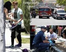 【イタすぎるセレブ達】セレーナとデート中のジャスティン・ビーバー、パパラッチに猛アタックで緊急車両も続々到着。