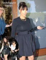 【イタすぎるセレブ達】妊婦中期なのに! キム・カーダシアンがウエストをギッチリ絞る仰天のスタイル。