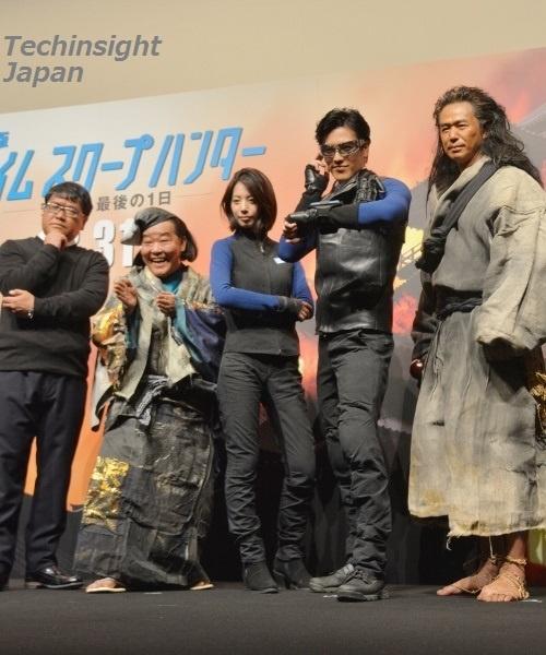 豪華キャストが顔を揃えた。左からカンニング竹山、上島竜兵、夏帆、要潤、時任三郎。