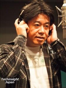 真剣にレコーディングに取り組む堀江貴文氏