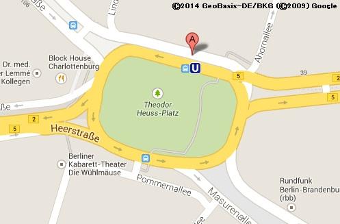 「アドルフ・ヒトラー広場」と記載されていたベルリンの広場。画像はGoogleマップのスクリーンショット