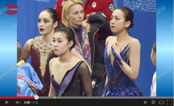 浅田6位、意地の好演技 フィギュアスケート女子 (画像はYouTubeのスクリーンショット)