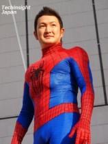 【エンタがビタミン♪】中村獅童、スパイダーマンスーツで銀座に颯爽と現る。除幕式では「紐が長いし、硬いよ…」