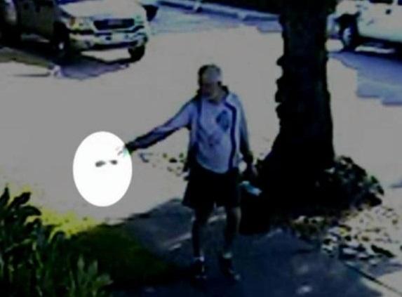 【米国発!Breaking News】市長、犬の糞を隣家の敷地にポイッ。投げ込む姿が監視カメラに。(加州)