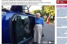 【米国発!Breaking News】横転事故に遭った80代夫婦。妻は車内でせっせと「自撮り」。(加州)