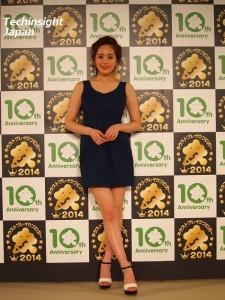 『Amebaネクストブレイクブロガー授賞式』で美脚を披露した筧美和子