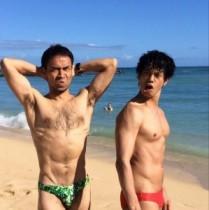 【エンタがビタミン♪】ワッキー×庄司がハワイの海で鍛えた筋肉を披露。「2人ともムキムッキー!」と反響。