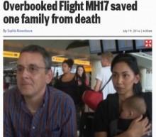 【EU発!Breaking News】マレーシア航空MH17便の搭乗を諦めていた英国人一家。「オーバーブッキングが幸いした」