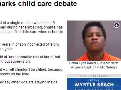 【米国発!Breaking News】「ネグレクト」で母親逮捕。仕事中に9歳娘を公園で遊ばせて、10年の服役か!?(Sカロライナ州)