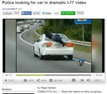 【米国発!Breaking News】ハイウェイを走る車のトランクから飛びだした男。その危険行為に後続車ハラハラ。(Nカロライナ州)