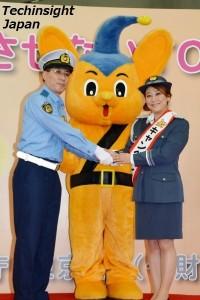 廣田耕一交通部長からキャンペーン隊長に任命された友近