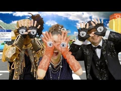 『ゲラゲラポーのうた』を歌うキング・クリームソーダ(画像はYouTubeのサムネイル)