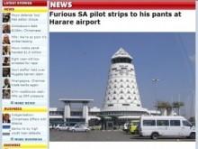 【アフリカ発!Breaking News】搭乗ゲートで足止めをくらった機長。怒りで下着1枚になり逮捕。(ジンバブエ)
