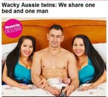 【豪州発!Breaking News】ベッドで1人の恋人を共有する双子。「2人とも同じように愛して」(豪)