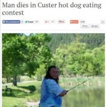 【米国発!Breaking News】ホットドッグ早食いコンテストで47歳男性が窒息死。(サウスダコタ州)