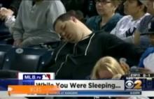 【米国発!Breaking News】ヤンキース戦、観客席での居眠りをTVでズームアップされた男性が激怒の10億円訴訟へ。