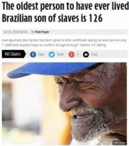 【南米発!Breaking News】ブラジルに世界最高齢の男性? 1888年生まれの126歳と役所が認定。