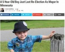 【米国発!Breaking News】5歳男児、町長に選ばれて1年3か月。やっと次の人にバトンタッチ。(ミネソタ州)