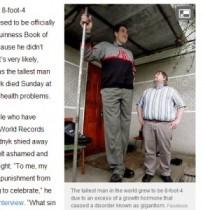 【EU発!Breaking News】ギネス認定を拒み続けた身長254cmの男性、44歳で静かに逝去。(ウクライナ)