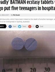 【豪州発!Breaking News】バットマン印の青い錠剤。粗悪な合成麻薬「エクスタシー」出回る。(豪)