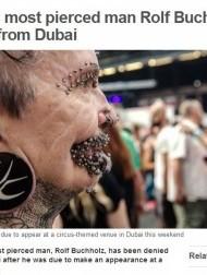 【中東発!Breaking News】ギネス認定の「453個のピアスをつけた男性」、ドバイで入国拒否。