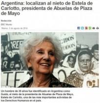 【南米発!Breaking News】軍事政権下で生き別れになった祖母と孫、36年目にして血縁関係が判明。(アルゼンチン)