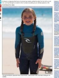 【豪州発!Breaking News】「先天性副腎過形成」と闘う天才少女サーファー。夢は世界チャンピオン。(豪)