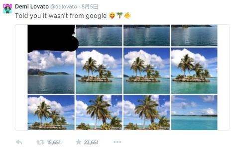 【イタすぎるセレブ達】デミ・ロヴァート、ネット上の写真を引用して公開!? 「私が撮ったもの!」と主張。