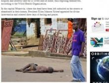 【アフリカ発!Breaking News】路上の遺体はエボラ出血熱犠牲者か。むさぼる野良犬に新たな危機感。(リベリア)