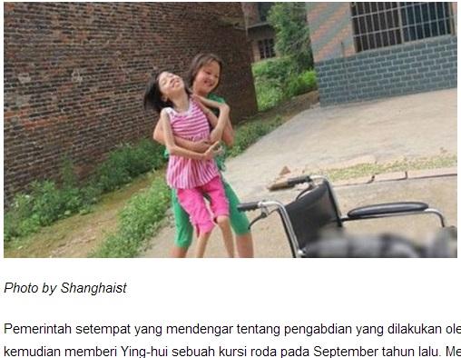 【アジア発!Breaking News】ポリオ後遺症の親友を背負い、3年間登下校。13歳少女の厚い友情に感動。(中国)