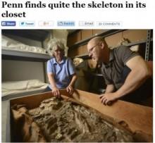【米国発!Breaking News】考古学博物館の倉庫に6500年前の骸骨を発見。(ペンシルベニア州)