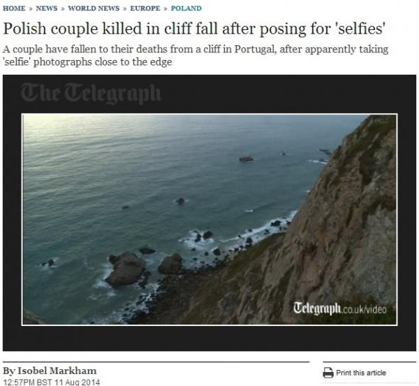 観光客の夫婦が転落したロカ岬。(画像はtelegraph.co.ukのスクリーンショット)