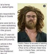 """【米国発!Breaking News】""""大麻フェス""""で全裸男が大暴れ! 警察官に暴行も。(オレゴン州)"""