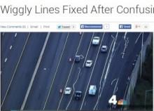 【米国発!Breaking News】高速道路の車線がめちゃくちゃ。蛇行する白いラインに車は大混乱。(バージニア州)