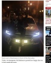【海外発!Breaking News】超クリスタルなベンツを乗り回すロシア人女子留学生。ロンドンの一等地で。