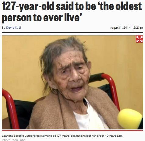 【南米発!Breaking News】満127歳と裁判所に認められたメキシコ女性。玄孫はなんと55人!