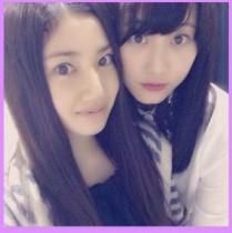 """【エンタがビタミン♪】松井玲奈とSKE48で「一番かわいい」と噂の""""りょうは""""。美形な2人がツーショット。"""
