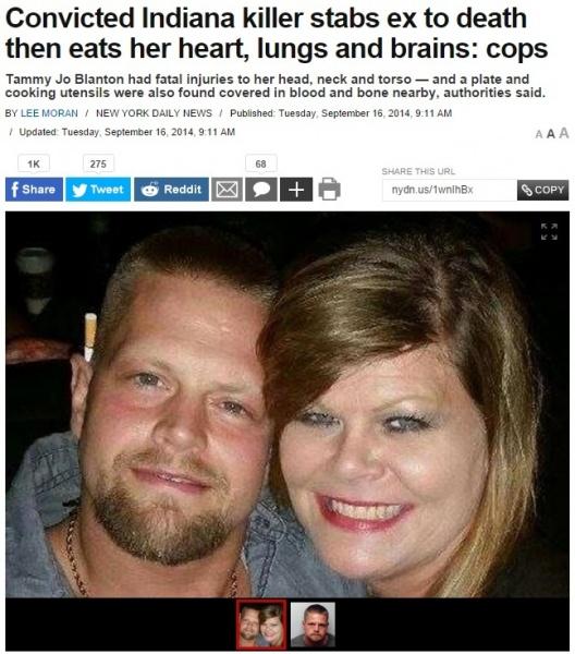 【海外発!Breaking News】16年前に別れた元恋人を殺害、遺体をバラバラにしその一部を食した男。(米)