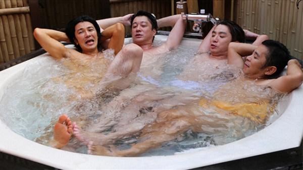 「お風呂の時間」大江戸温泉にてお風呂でユルんでる、24時間『めちゃユル』メンバー
