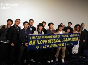 映画『LOVE SESSION』舞台挨拶にて。