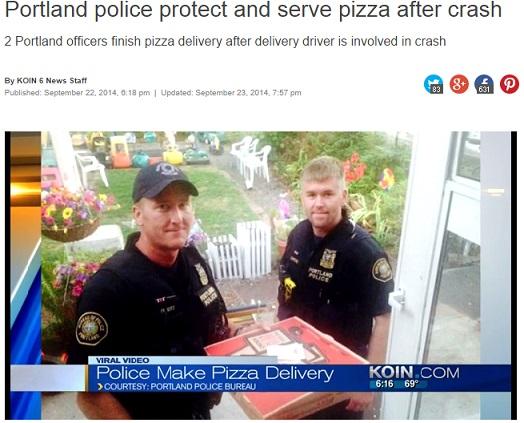 【海外発!Breaking News】ピザハットの宅配ドライバーが事故。親切な警察官が代わりにデリバリー!(米)