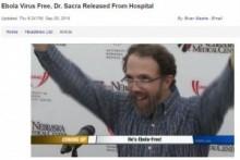 【海外発!Breaking News】エボラ出血熱を克服した3人目の米国人。会見で「完治した米医師の抗体を譲ってもらった」。