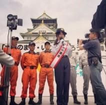 """【エンタがビタミン♪】森カンナが""""一日消防署長""""に緊張。大阪城をバックに「しょっちょさん」"""