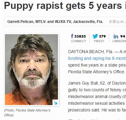 【海外発!Breaking News】メスの子犬に性的暴行 62歳男に5年の実刑判決が下る(米)