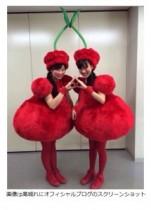 """【エンタがビタミン♪】ももクロ・高城れにのハロウィン衣装が超個性的。佐々木彩夏との""""さくらんぼスタイル""""に「超可愛い!」の声。"""