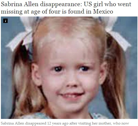 【海外発!Breaking News】行方不明の少女、12年ぶりに元気な姿で発見! 父親の執念実る。(メキシコ)