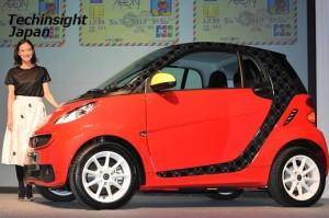 キャンペーンで当たるスマート電気自動車とともに、蒼井優